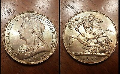 Exceptional 1895 Great Britain Silver Crown Coin