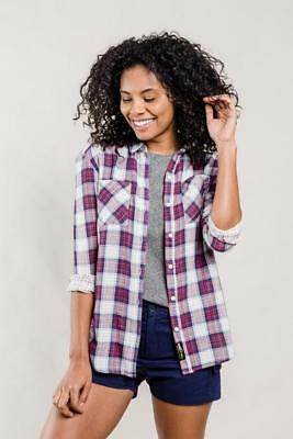 United By Blue Stargrass Relaxed Plaid Shirt Red/Navy M