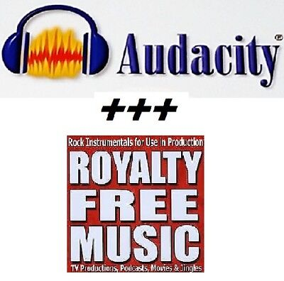 Audacity Audio editing +++ Over - 1044 high quality royalty free music tracks !