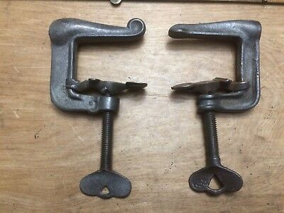 "Vintage Pair of Unique ""C"" Clamps - Very Cool!"