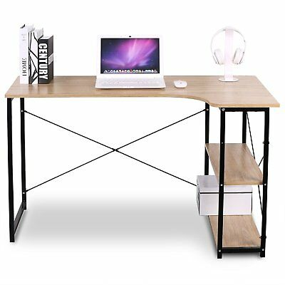 WOLTU Computer Desk Corner Desk 3 Tier Bookshelves for Home Office Use