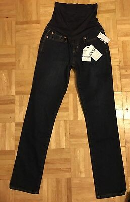 Nwt Gap 1969 Maternity Dark Wash Skinny Cropped Jeans Denim Pants 26 / 2 New