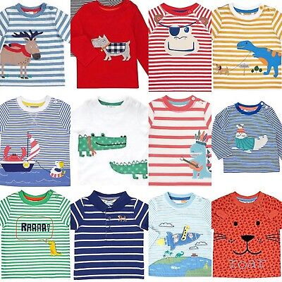 Ex John Lewis Baby Boy Applique Tops T Shirts Childrens 0-3Yrs