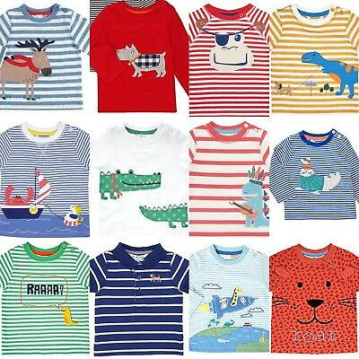 NEW JUST IN John Lewis Baby Girl & Boy Applique Tops T Shirts Sweaters 0-3Yrs