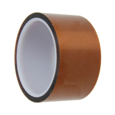 50mm 5cm x 30M Kapton Tape Sticky High Temperature Heat Resistant Polyimide NEW