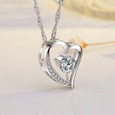 Forever Love Heart Diamond Necklace For Wife Valentine Birthday Gift
