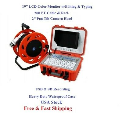Chimney Camera with Pan Tilt Camera & Multi Function Control Station 200FT Cable