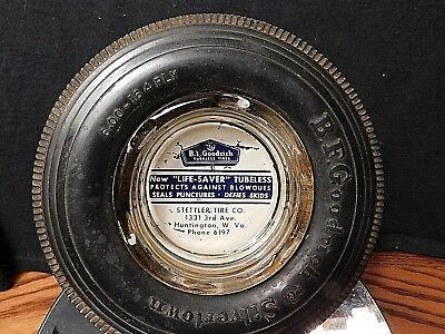 """Bf Goodrich Ashtray 1950.""""real Nice Condition""""hard To Find 1950's Model""""hunt Wv"""