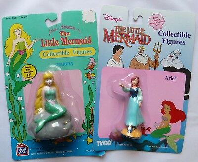 Two (2) THE LITTLE MERMAID Collectible Figures, Sealed Packages,  Marina & Ariel
