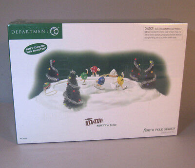 M&Ms animated skating rink - Dept 56 - 56440 - factory sealed - by artist