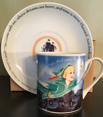 Peter Pan Tea Cup And Saucer Paul Cardew NEW IN BOX 6 Oz