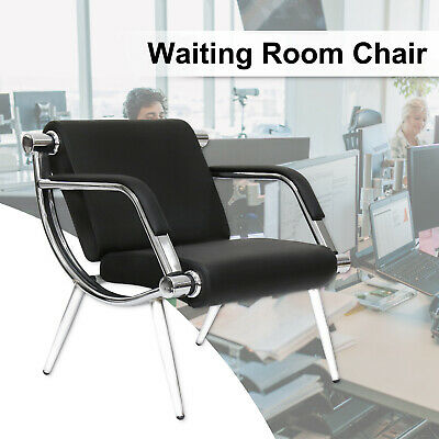 black leather executive reception chair office waiting room guest