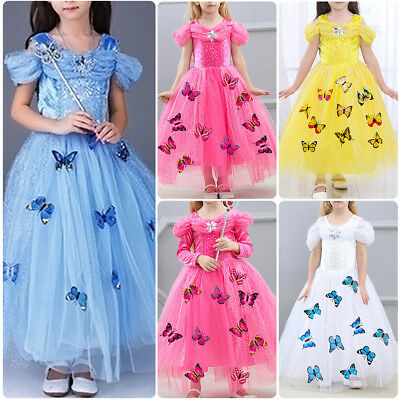 Cinderella Sandy Princess Butterfly Cosplay Costume Kids Girls Party Fancy Dress