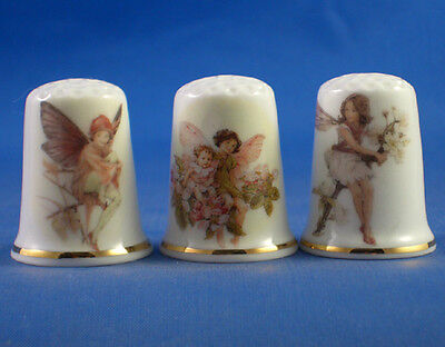 Birchcroft Thimbles -- Set of Three -- Fairies