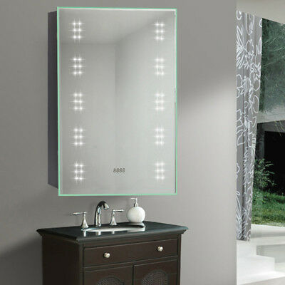 Bathroom mirror cabinet 60 led with shaver socket fog demister bathroom mirror cabinet 60 led with shaver socket fog demister galactic lighting mozeypictures Image collections