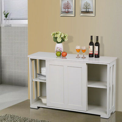 Stackable Buffet Sideboard Kitchen Cupboard High Gloss Storage Cabinet White