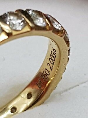 Memory  Goldring 750 Gold / Brillanten Diamanten 2 ct - Gvs / Größe 56,5
