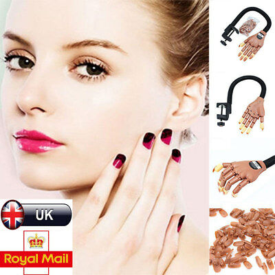Practice Learning MakeUp Nail Art Training Hand Model Refit Tips Adjustable Size
