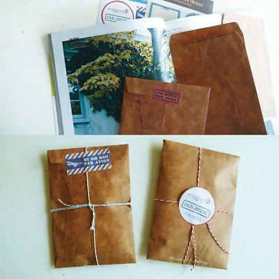 50Pcs Brown Craft Kraft Paper Envelope Retro Envelopes Invitation Letter#