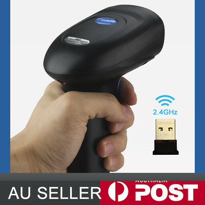 2.4G USB Wireless Cordless Portable 1D/2D/QR Barcode Scanner Bar Code Reader POS