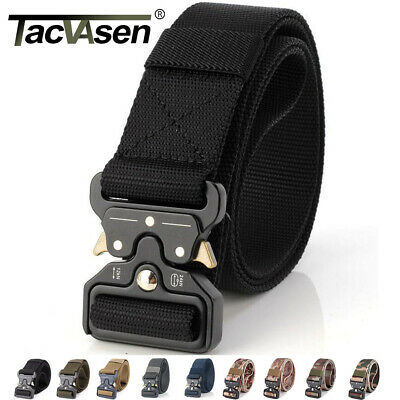 TACVASEN Tactical Heavy Duty Mens Belts Military Stylish Metal Army Pants Belts