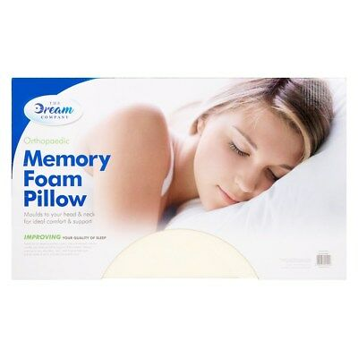 Orthopaedic Memory Foam Pillow Neck Back Contour Firm Head Support Free Cover