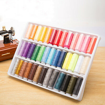 39pcs/lots Assorted Colours Hand Machine Polyester Sewing Thread Spool Set Pro#