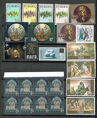Malta - Mixed Selection Of 38 Mint Stamps, Including Some Sets And Block (L45)