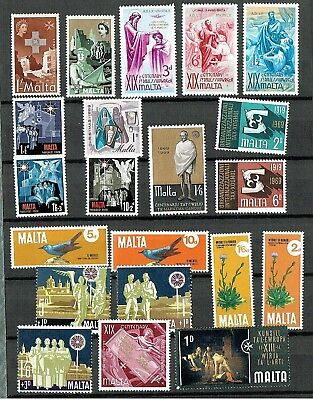 Malta - Mixed Selection Of 37 Mint Stamps, Including Some Full Sets (L44)