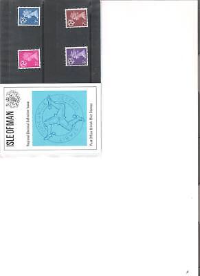 1971 Royal Mail Presentation Pack Isle Of Man  Definitives Pack 30