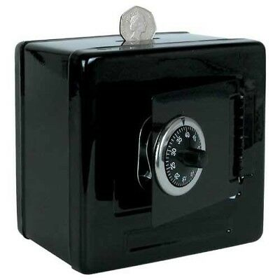 Black Metal Money Bank Combination Lock Box Safe Kids Pocket Money Saving