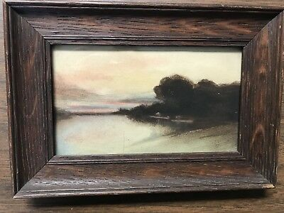 Small Framed Antique Original Artwork - Medium Unknown - Early 20th Century