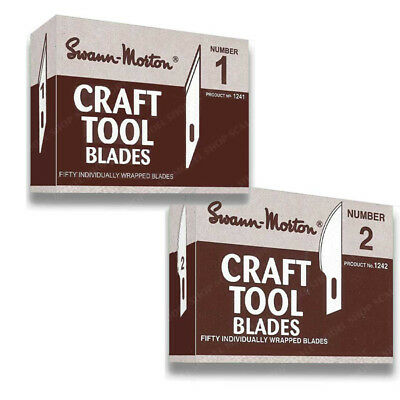 Swann-Morton Craft Tool Blades Pack of 25 No. 1 and 2