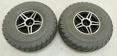 """Pride Jet 7 Flat Free Drive Wheels for Power Wheelchairs-WHLASMB1410 (10""""x3"""")"""