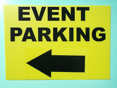 Event Signage - EVENT PARKING with LEFT Arrow - Direction signs (24-45)