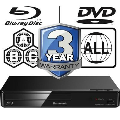 Panasonic DMP-BDT167EB 3D Full MultiRegion Smart Blu-ray Player DMP-BDT167EB-K