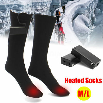 Heated Socks Winter Warm Feet Foot Warmer Electric Battery Warming Thermal Size