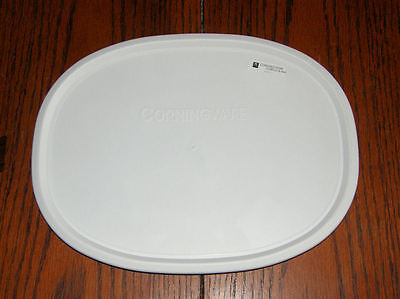 1 NEW Corning Ware French White Oval Lid F-2-PC fit 1.5 & 2.5 Qt FREE SHIPPING