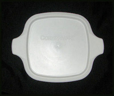 1 NEW Corning Ware Petite LID White Plastic Cover FITS ALL P-41 P-43 Dishes MINT