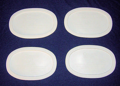 4 NEW Corning Ware Lids /Plastic Covers F-15-PC Fit French White 15 Oz Oval Dish