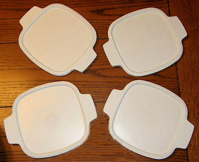 "4 NEW Replacement Corning Ware LIDS 7"" A-1-PC FIT 1 Qt, 1.5, 1 3/4 Qt FREE SHIP"