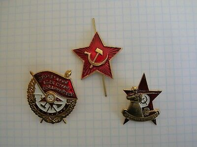 RUSSIAN USSR SOVIET Order Of The Red Banner and badge for excellent shootining