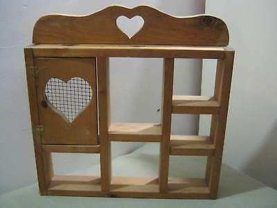 Vintage Wood Display Shelf, Heart, Screen Door, Shabby Country Farm Cottage Chic