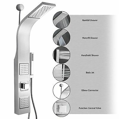 """39"""" Easy Connect Stainless Steel Rainfall Waterfall Shower Panel Y-JX9002 SP0039"""