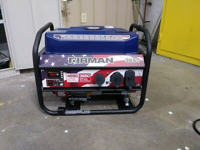 USED FIRMAN P03611 Performance Series 3560/4550 Manual Start Portable Generator