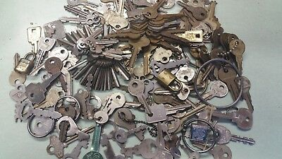 Huge Lot of Vintage Keys and Locks! Unique Shapes and Sizes Perfect for the Coll