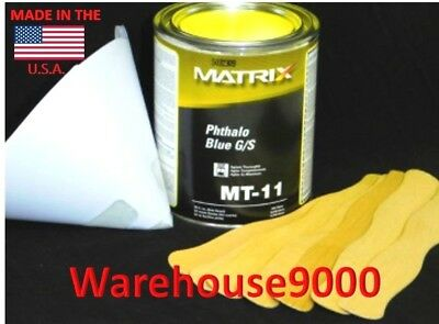 1 Qt. Matrix MT-11 Phthalo Blue G/S Tint For Use With Matrix Paint System Labs