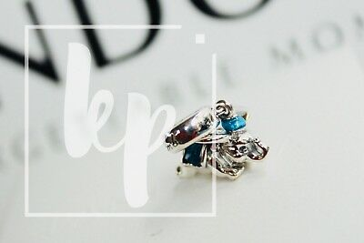 Pandora Disney Parks Flying Dumbo Elephant pink Blue enamel Charm Dangle S925 ALE PyV6rZK