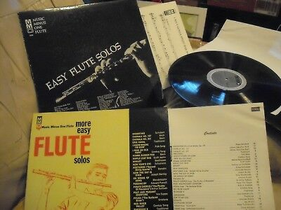 Job Lot of 2 'Music Minus One' Flute Solos LP's - American - Ex Cond