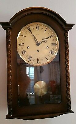 Friedrich Mauthe Wall Clock - Westminstinster Chimes w/Key - from Germany